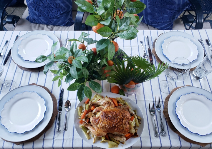 Summer Tablescape and Roast ChickenRecipe